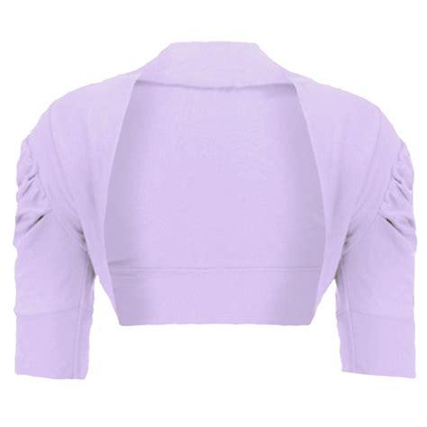 Cardigan Anak Sweater Kid Bolero 2 casual ruched sleeve shrug plain bolero top cropped cardigan 2 14 y ebay