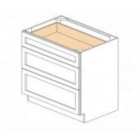 kitchen cabinet bases db36 3 white shaker drawer base cabinet kitchen cabinets