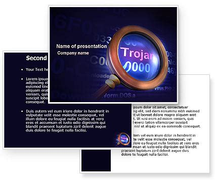 ppt templates for computer virus computer virus powerpoint template poweredtemplate com