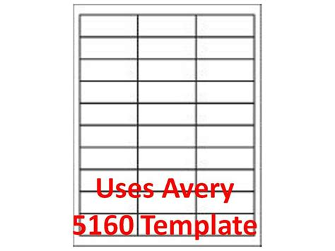 address labels our wl 875 same size as avery 5160 8160