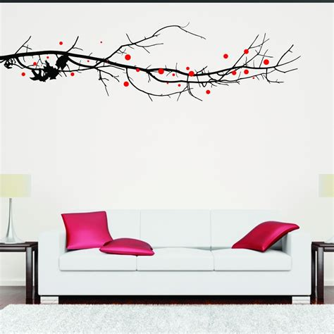 large tree wall stickers uk large tree branch with leaves wall sticker wall chimp uk