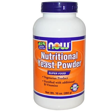 P O Powder M B K now foods nutritional yeast powder 10 oz 284 g iherb