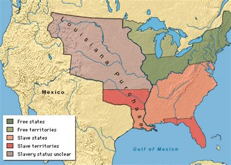 map of united states 1820 missouri compromise 1820