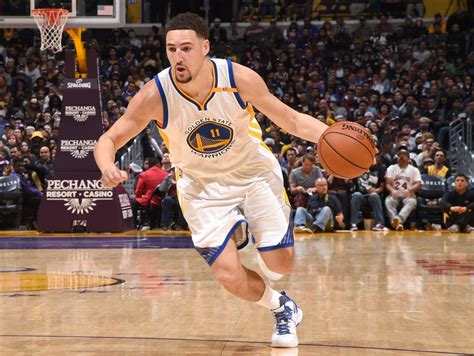 klay thompson klay thompson throws paper airplane during press conference time