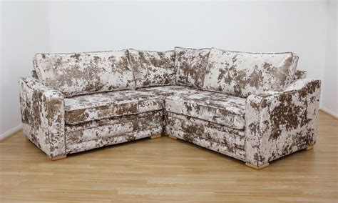 crushed velvet couch crushed velvet corner sofa cristina marrone lustro