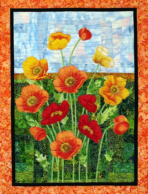 Poppy Quilt Pattern by Quilts By Jvc Patterns Poppies Ups