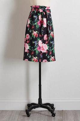 Tie Waist Floral Print Midi Skirt s boutique skirts versona