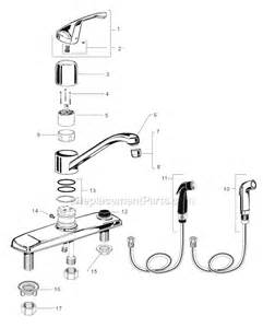 american standard kitchen faucet repair parts american standard 4175 203 f15 parts list and diagram