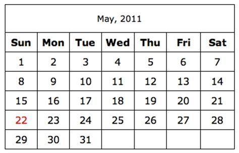 Simple Calendar A Simple Printable Calendar Calendar Printable Simple