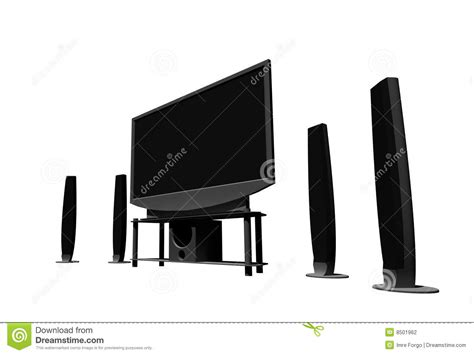 house theatre definition home theater high definition television stock