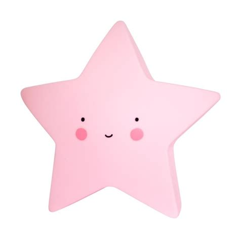 pink star a little lovely company mini star light pink pink star