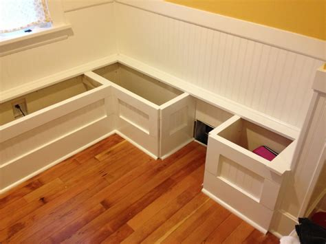 how to build a kitchen nook bench diy custom kitchen nook storage benches