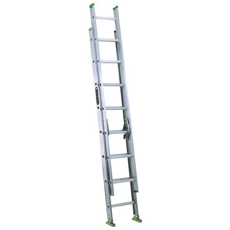 louisville ladder 20 ft aluminum extension ladder with