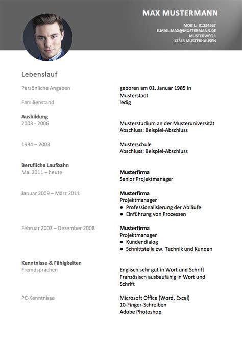 Vorlage Bewerbung Und Lebenslauf by Lebenslauf Vorlage Meinebewerbung Net
