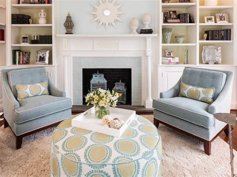 Blue Transitional Living Room Photos Hgtv