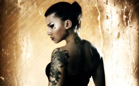 tattoo girl hd wallpaper girl with tattoo hd widescreen 1920x1200px wallpaper