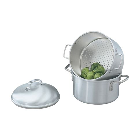 vegetable steamer pot vollrath 68123 5 qt aluminum steamer basket 9 125 quot h