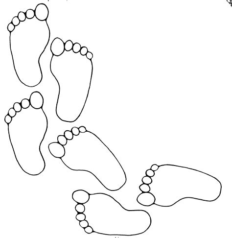 coloring pages of baby feet footprint pattern printable clipart best