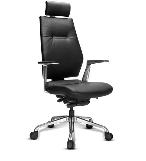 recliner chair godrej sedna extra high back chair in black leather by godrej