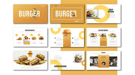 powerpoint recipe template special burger free presentation template food