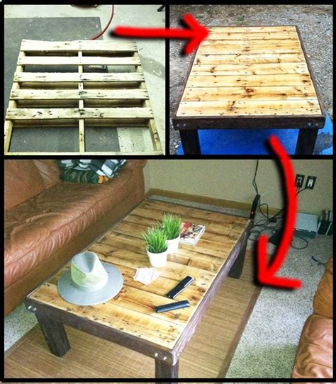 How To Make Coffee Table How To Make A Wooden Pallet Coffee Table Top Diy Ideas