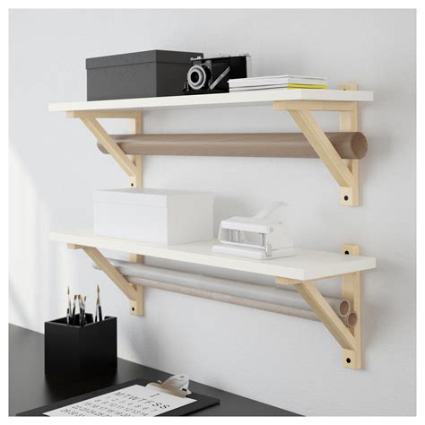 wall shelf ekby 214 sten shelf white 79x19 cm ikea