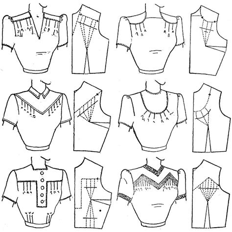 pattern drafting yokes blouses pattern drafting midriff and yoke pinterest