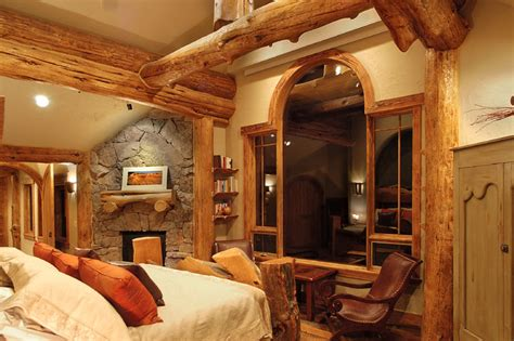 log home bedrooms hybrid log house traditional bedroom vancouver by sitka log homes