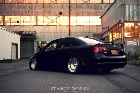 volkswagen gli stance stance works a mkv jetta on polished schmidt wheels