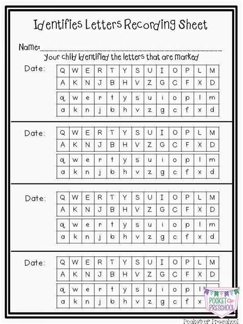 printable alphabet recognition assessment 25 best ideas about preschool assessment forms on