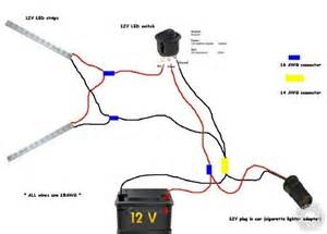 Car Led Circuit Diagram Connecting Led To 12 Volt Car Battery Power Supply