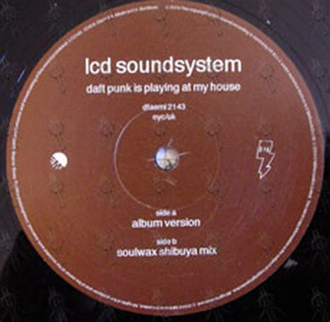 daft punk is playing at my house lcd soundsystem daft punk is playing at my house 12 inch lp vinyl rare records