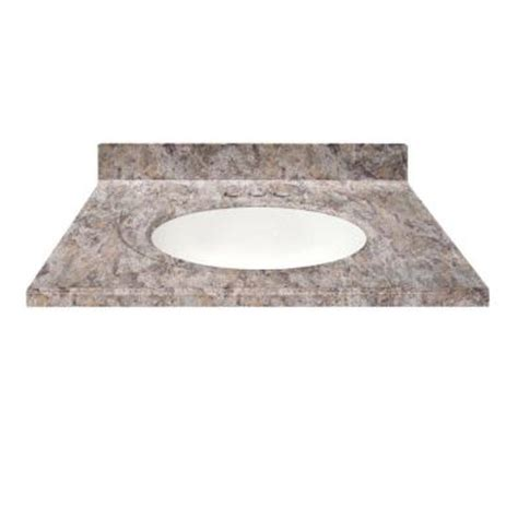 Cultured Marble Vanity Tops Colors by Us Marble 49 In Cultured Granite Vanity Top In Fawn Color