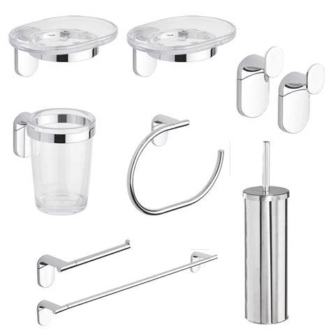 set per bagno set accessori bagno acciaio 8 pezzi porta scopino porta