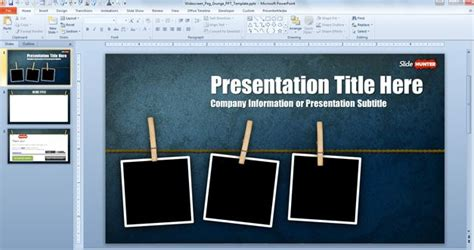 Free Widescreen Peg Grunge Powerpoint Template 16 9 Free Powerpoint Templates Slidehunter Com Widescreen Powerpoint Templates