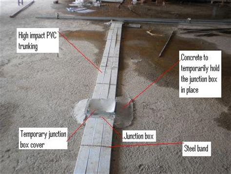 caretaker in floor system picture installed electrical installation wiring pictures underfloor
