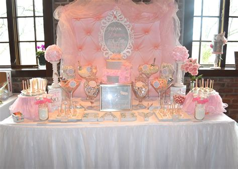 Baby Shower Buffet Table by This Pink Buffet For A Baby Shower Had A Princess