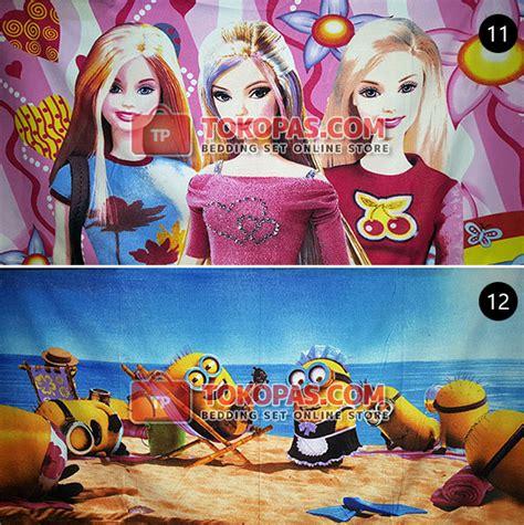 Handuk Karaktet Princess handuk karakter kartun microfiber menyerap motif banyak