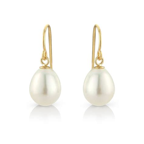 tear drop pearl earrings with gold fill hooks by argent of