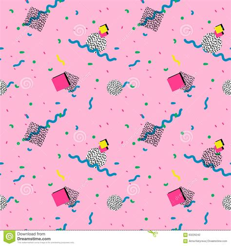 abstract pattern for website seamless pattern in memphis style stock illustration