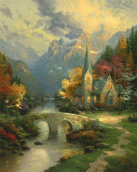 mountain chapel  thomas kinkade company