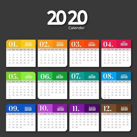 calendar template design  solid colors  calendar template  calendar png