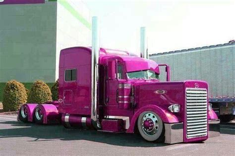 pink peterbilt show  shine trucks big rig trucks trucks peterbilt trucks