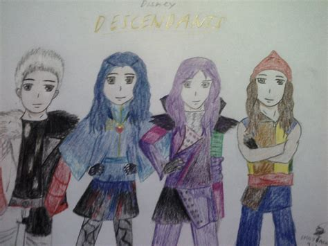 anime mal and evie descendants anime ver by thenightshades on deviantart