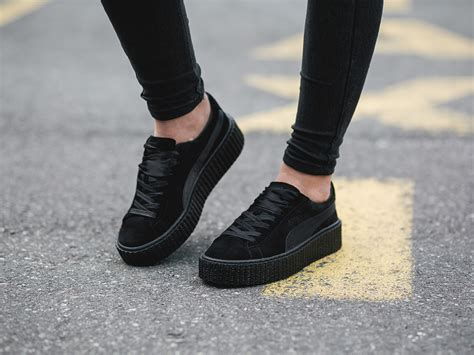 s shoes sneakers suede creepers satin fenty