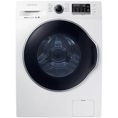 shop samsung 2 2 cu ft high efficiency stackable front load washer white energy at lowes