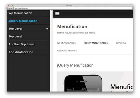 design app jquery mobile 11 jquery mobile navigation menu plugins web graphic