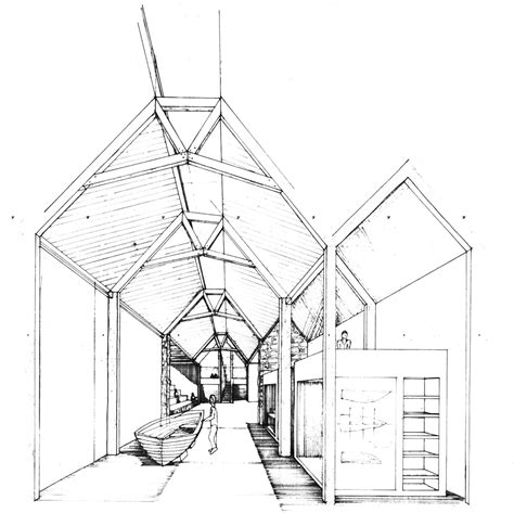boat building workshop layout brown brown transforms derelict stone buildings into