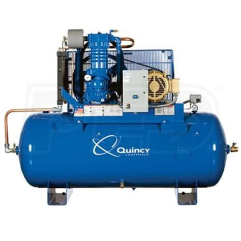 quincy 3153ds12hca46 qp pro 15 hp 120 gallon pressure lubricated two stage air compressor 460v 3