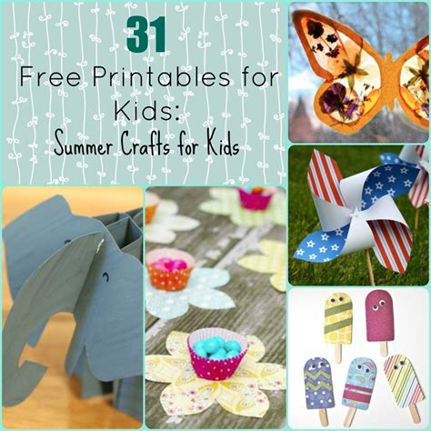 crafts for summer 31 free printables for summer crafts for